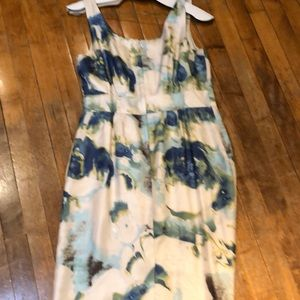 Banana Republic Flowered Silk Dress